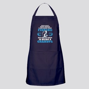 Fishing Grandpa Apron (dark)