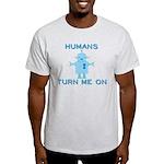 Robot, Turn Me On Light T-Shirt
