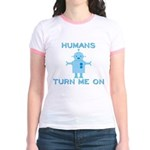 Robot, Turn Me On Jr. Ringer T-Shirt