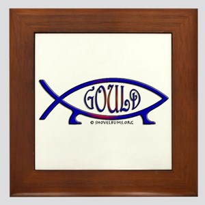 Gould Fish! Not Darwin Fish. Framed Tile