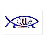 Gould Fish! Not Darwin Fish. Rectangle Sticker