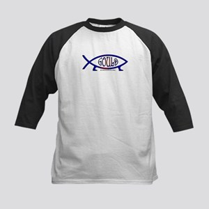 Gould Fish! Not Darwin Fish. Kids Baseball Jersey