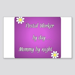 Postal Worker by day Mommy by night Sticker (Recta