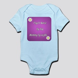 Psych Nurse by day Mommy by night Infant Bodysuit