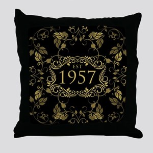Established 1957 Throw Pillow