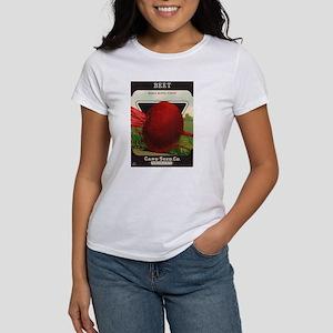 Antique Seed Packet Art Beet Women's T-Shirt