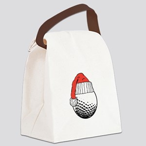 CHRISTMAS GOLF BALL Canvas Lunch Bag