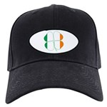 Irish Flag Four Leaf Clover Black Cap