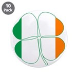 Irish Flag Four Leaf Clover 3.5