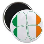 Irish Flag Four Leaf Clover Magnet