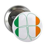 Irish Flag Four Leaf Clover 2.25