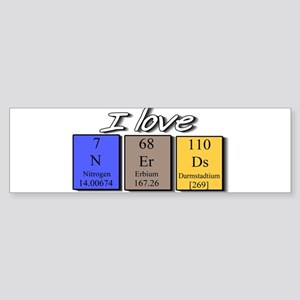 I Love Nerds Sticker (Bumper)