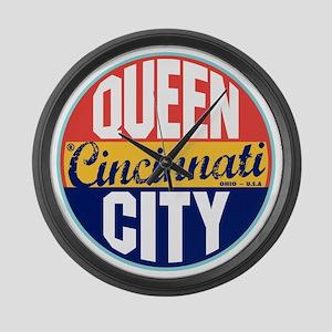 Cincinnati Vintage Label Large Wall Clock