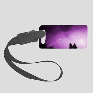 Purple Lightning Small Luggage Tag