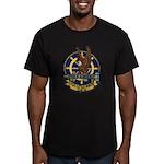 USS LITTLE ROCK Men's Fitted T-Shirt (dark)