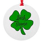 Irish Nurse Round Ornament