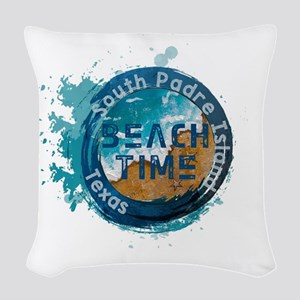 Texas - South Padre Island Woven Throw Pillow