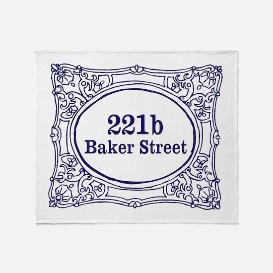 221b Baker Street Throw Blanket