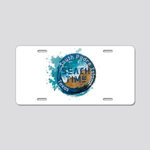 Texas - South Padre Island Aluminum License Plate