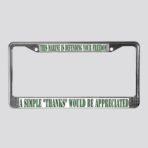 """Marine"" License Plate Frame"