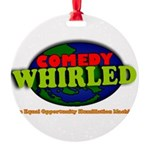 Comedy Whirled Ware Round Ornament