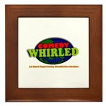 Comedy Whirled Ware Framed Tile