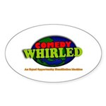 Comedy Whirled Ware Sticker (Oval 50 pk)
