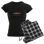 Comedy Whirled Ware Women's Dark Pajamas
