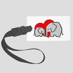 Elephants(3) Large Luggage Tag
