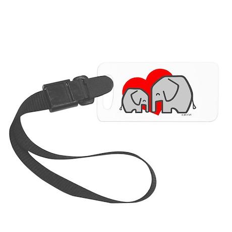 Elephants(3) Small Luggage Tag