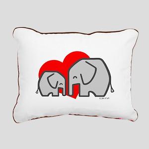 Elephants(3) Rectangular Canvas Pillow