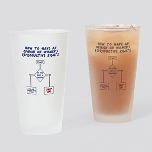 Pro Choice Chart Drinking Glass