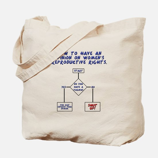 Pro Choice Chart Tote Bag