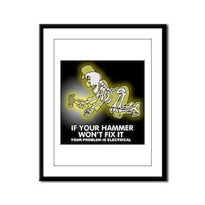 Hammer Mechanic Framed Panel Print