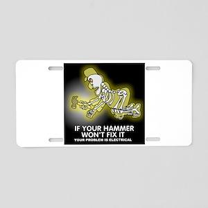 Hammer Mechanic Aluminum License Plate