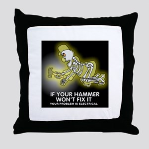 Hammer Mechanic Throw Pillow