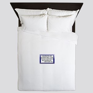 Conservatives are not stupid Queen Duvet