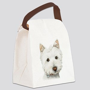 pastel on canvas westie Canvas Lunch Bag