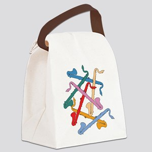 Colorful Bass Clarinets Canvas Lunch Bag