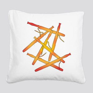 Fiery Bassoons Square Canvas Pillow
