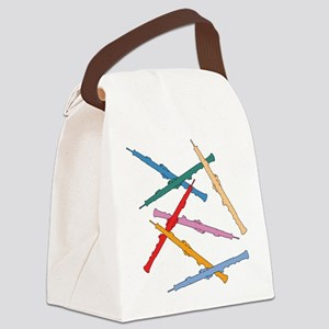 Colorful Oboes Canvas Lunch Bag