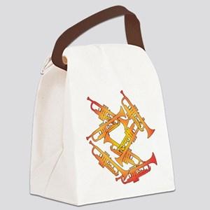 Fiery Trumpets Canvas Lunch Bag