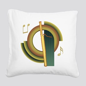 deco-bassoon Square Canvas Pillow