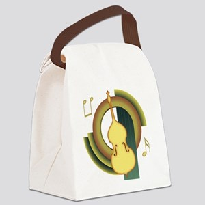 Double Bass Deco Canvas Lunch Bag