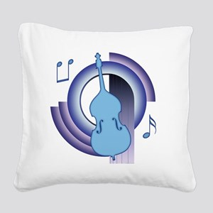 Double Bass Deco 2 Square Canvas Pillow