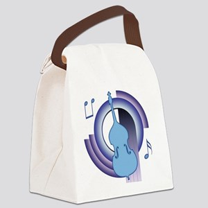 Double Bass Deco 2 Canvas Lunch Bag