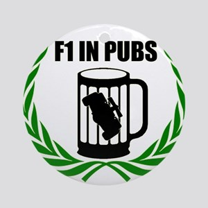 F1 in Pubs Ornament (Round)