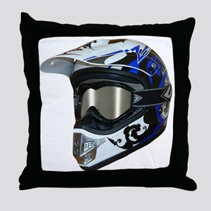 Premises187's MX Helmet Custom Design Throw Pillow