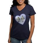 Emperor Penguins Women's V-Neck Dark T-Shirt