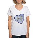 Emperor Penguins Women's V-Neck T-Shirt